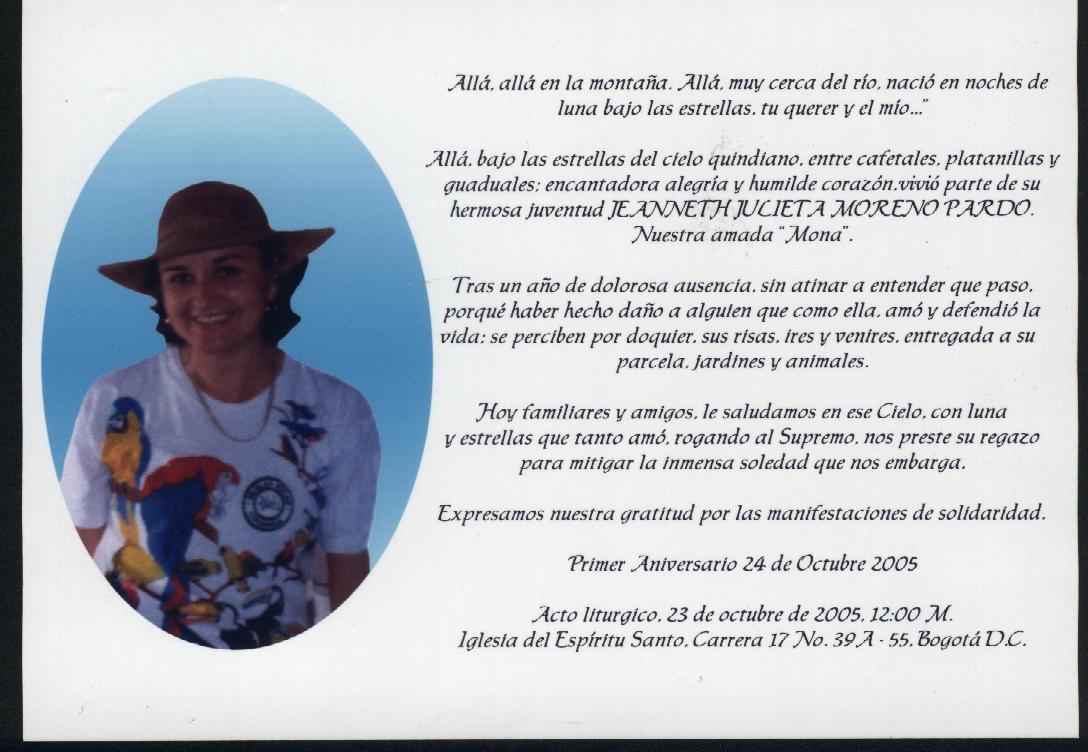 La Misa De Aniversario Por El Fallecimiento De Jea H Julieta